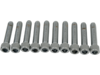 "Drag Specialties 5/16""-18 x 1 1/2"" Coarse-Thread Socket-Head Bolt, Chrome"