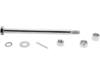 Drag Specialties Rear Steel Axle Kit, Chrome