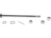 Drag Specialties Rear Steel Axle Kit, Chrome