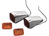 Drag Specialties Drag-Ness FM1 Marker Lights, Chrome