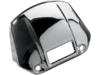 Drag Specialties Headlight Visor Cover w/ Cut Away, Chrome