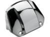 Drag Specialties Headlight Plain Visor Cover, Chrome