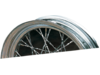 "Drag Specialties 21"" Wide Glide Hub 9.5"" Twisted Spoke Set, Chrome"