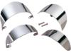 Drag Specialties Front Turn Signal Visor, Chrome