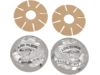 "Drag Specialties ""Live To Ride"" Gas Cap Covers, Chrome"