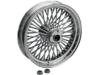 "Drag Specialties Rear 50-Spoke 18"" x 3.5"" Radially Laced Wheel, Chrome"