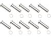 Drag Specialties Pivot Pin/Clip Kit, Chrome