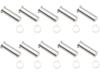 Drag Specialties Clutch Side Pivot Pin/Clip Kit, Chrome