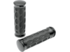 Drag Specialties Custom Rubber Grips, Black