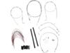 """Burly Brand Extended Cable/Brake Line Kit for 18"""" Ape Hanger Handlebar"""