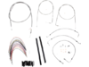 "Burly Brand Extended Cable/Brake Line Kit for 14"" Ape Hanger Handlebar"