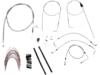 """Burly Brand Extended Cable/Brake Line Kit for 14"""" Ape Hanger Handlebar"""