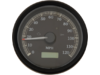 "Drag Specialties Programable 3 3/8"" Electronic Speedometer, Black"