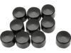 Drag Specialties Front Axle Caps, Black