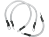 """Drag Specialties 15"""",17"""",8"""" Battery Cable Kit, Clear"""