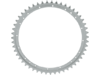 Drag Specialties 51T Rear Wheel Sprocket, Silver Zinc-plated